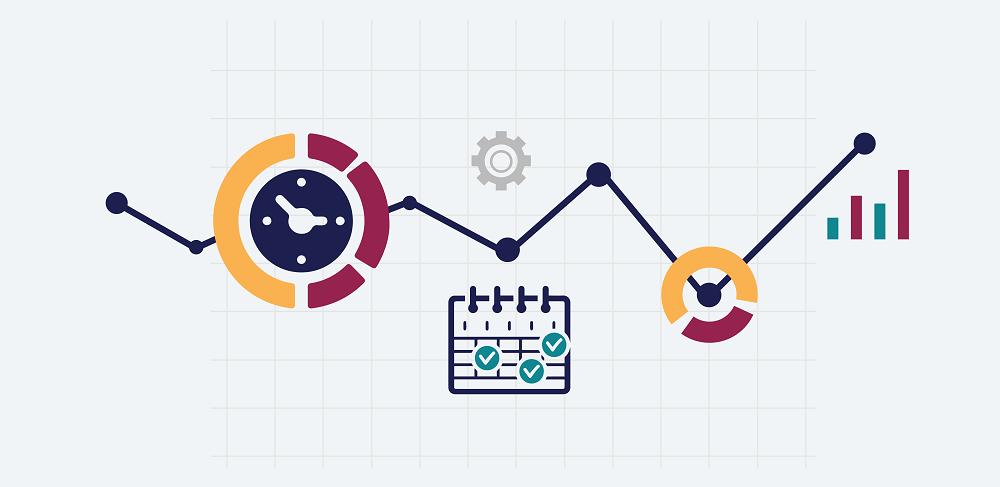 Ecommerce data analytics line graph