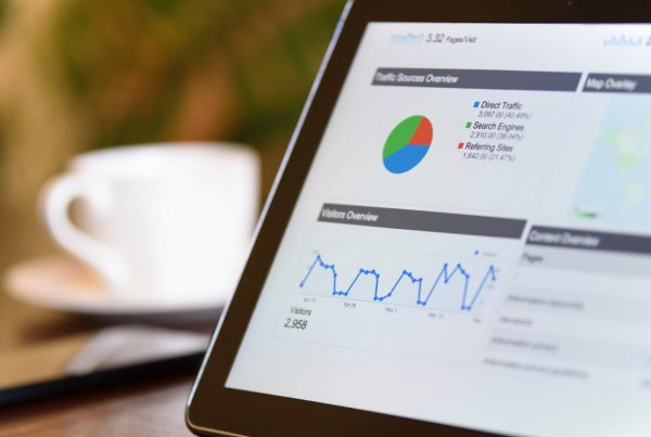 web analytics overview on android tablet